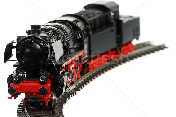 Speelgoed stoomlocomotief geïsoleerd retro motor Stockfoto © manfredxy