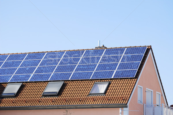 House roof with solar panels Stock photo © manfredxy