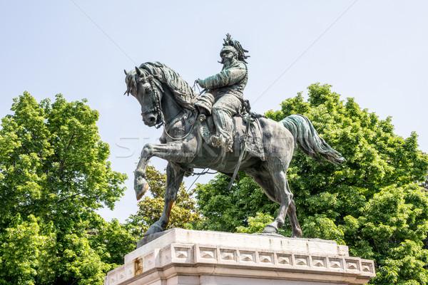 Escultura verona público imagens primeiro rei Foto stock © manfredxy
