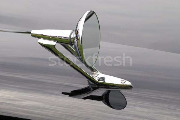 Vecchio timer fuori specchio nero retro Foto d'archivio © manfredxy
