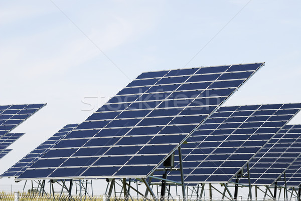 Stock photo: Solar panel field