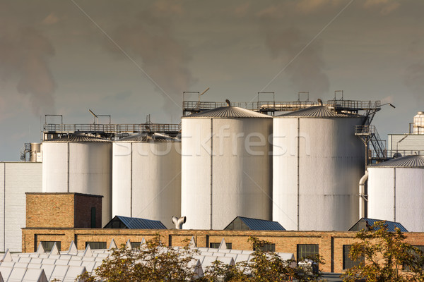 воздуха загрязнения химического завода здании технологий Сток-фото © manfredxy