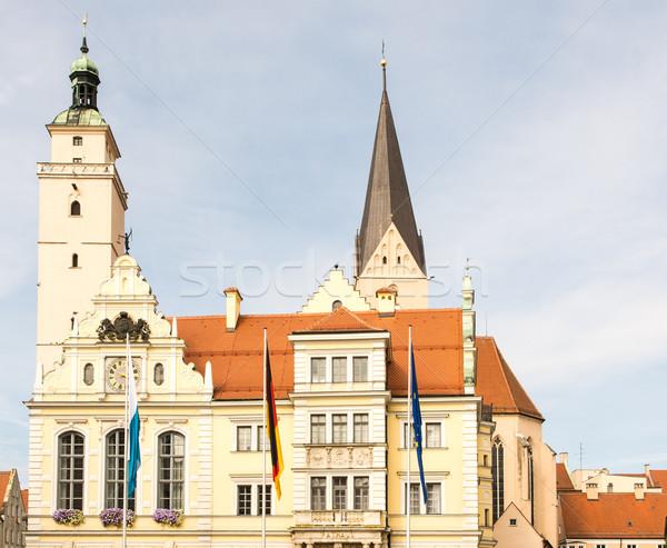 旧市街 ホール 歴史的 教会 フラグ アーキテクチャ ストックフォト © manfredxy