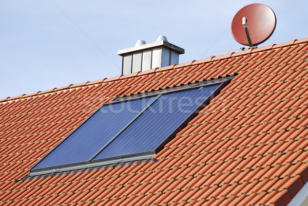 Solar heating system Stock photo © manfredxy