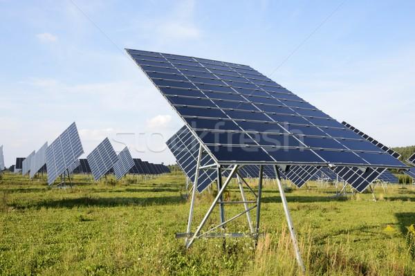 Fotovoltaik güneş park dev güneş panelleri teknoloji Stok fotoğraf © manfredxy