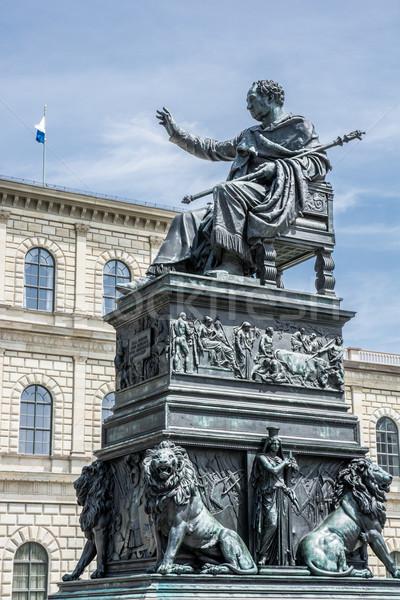 München König Statue christian Gebäude Architektur Stock foto © manfredxy
