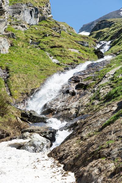 Wodospad parku Austria górskich lodu rock Zdjęcia stock © manfredxy