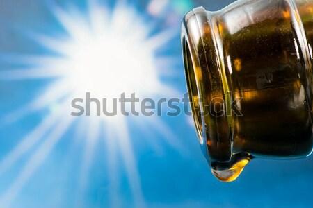 最後 ドロップ 空っぽ ビール瓶 太陽 空 ストックフォト © manfredxy