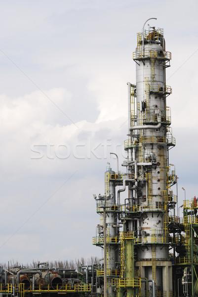 Vegyipar elhagyatott ipari olajfinomító technológia fém Stock fotó © manfredxy