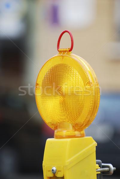 Barricar luz construção segurança Foto stock © manfredxy
