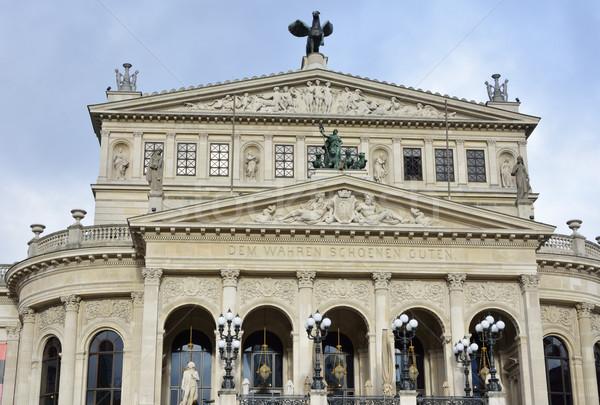 Frankfurt opera ház történelmi Németország Stock fotó © manfredxy