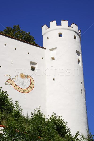 Zamek ściany architektury wieża średniowiecznej punkt orientacyjny Zdjęcia stock © manfredxy