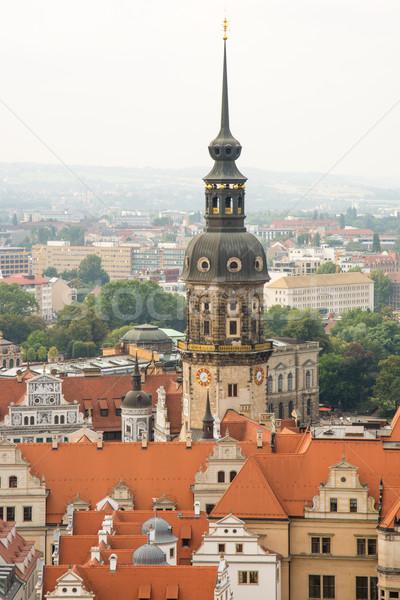市 ドレスデン 景観 教会 アーキテクチャ 地平線 ストックフォト © manfredxy