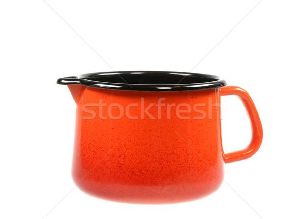 Panela vazio laranja isolado branco Foto stock © manfredxy