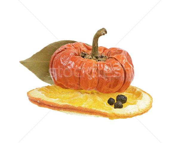 Wyschnięcia owoce dekoracji papryka pomarańczowy plasterka ziarnko pieprzu Zdjęcia stock © manfredxy