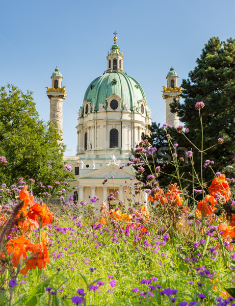Barroco Viena Áustria igreja religioso coluna Foto stock © manfredxy