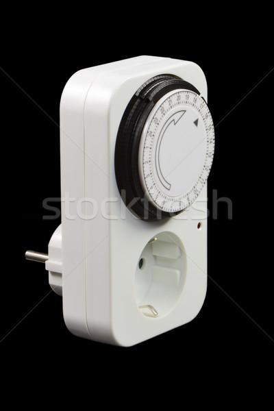 таймер переключатель власти гнездо черный энергии Сток-фото © manfredxy