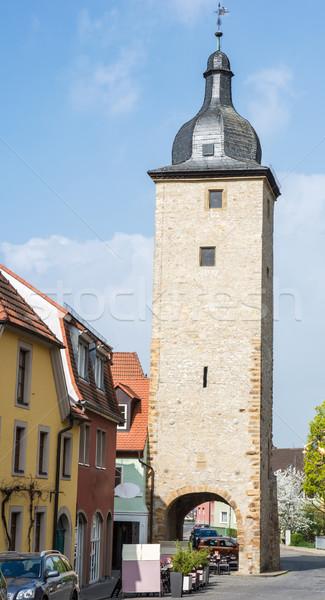 Wieża budynku architektury miasta średniowiecznej Niemcy Zdjęcia stock © manfredxy