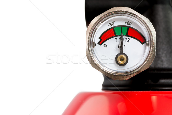 Stock photo: Manometer of a Fire Extinguisher