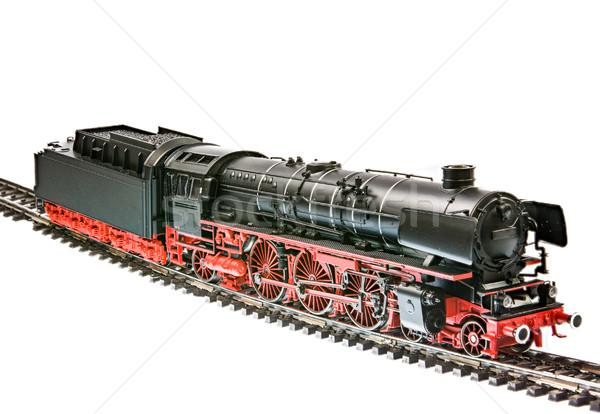 Speelgoed trein stoom motor locomotief geïsoleerd Stockfoto © manfredxy