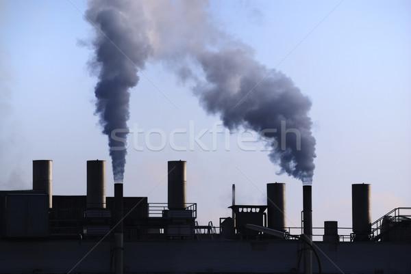 Industrielle révolution air pollution sale fumée Photo stock © manfredxy