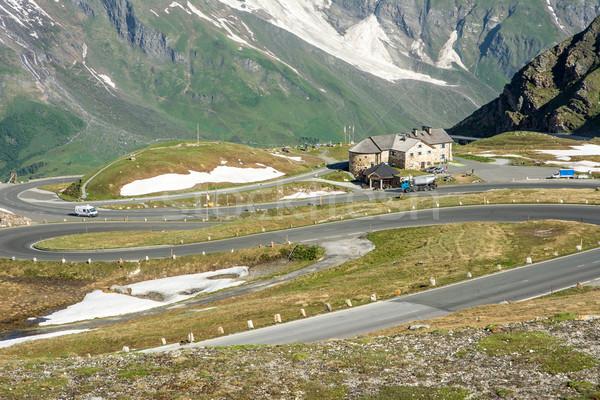 высокий альпийский дороги горные Австрия Сток-фото © manfredxy