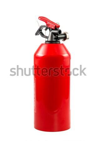 Taşınabilir yangın söndürücü kırmızı yalıtılmış beyaz güvenlik Stok fotoğraf © manfredxy