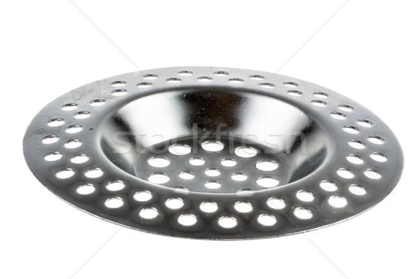 Isolated metallic sink strainer Stock photo © manfredxy