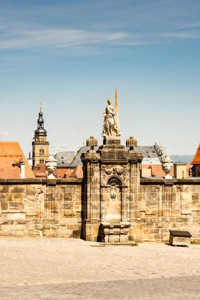 Histórico escultura cidade igreja arquitetura Foto stock © manfredxy
