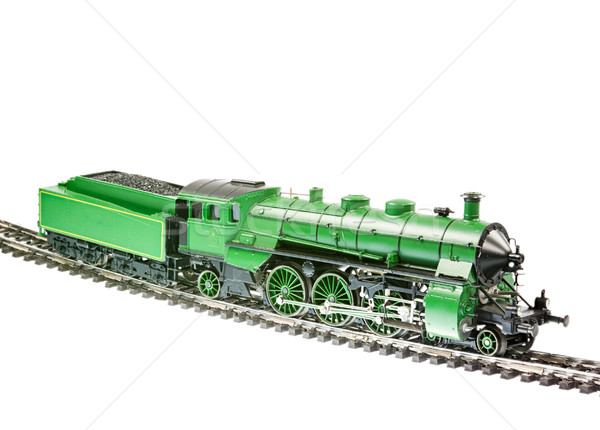 Brinquedo trem vapor motor locomotiva isolado Foto stock © manfredxy