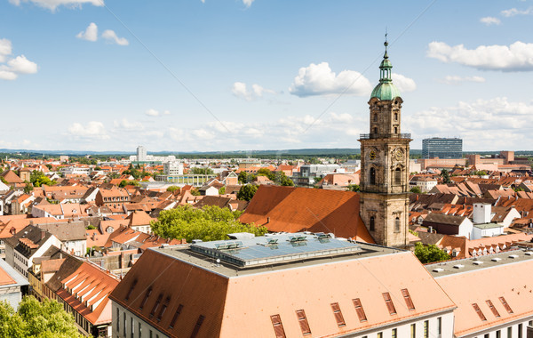 Aerial view over the city of Erlangen Stock photo © manfredxy