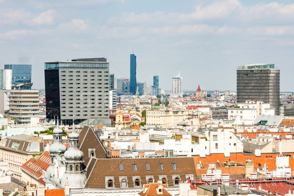 Légifelvétel városkép Bécs Ausztria épületek építészet Stock fotó © manfredxy