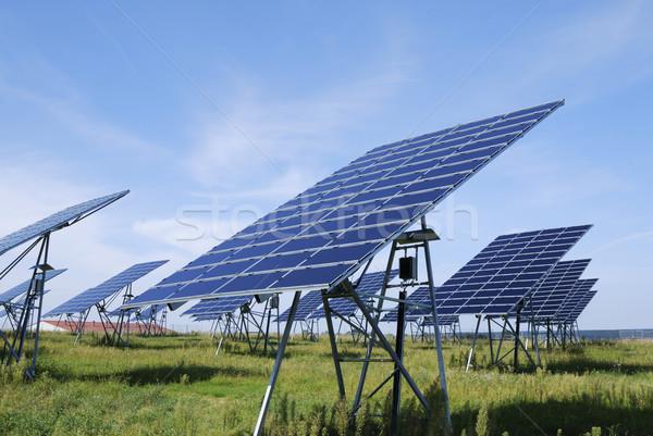 Green solar energy Stock photo © manfredxy