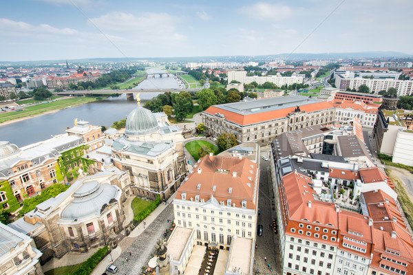 View over Dresden and River Elbe Stock photo © manfredxy