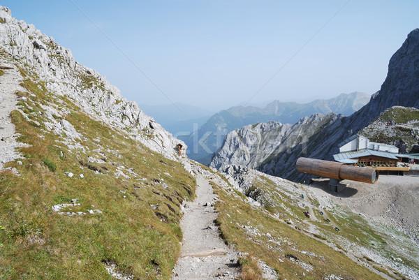 Alpen bergen gebouw steen eenzaam pad Stockfoto © manfredxy