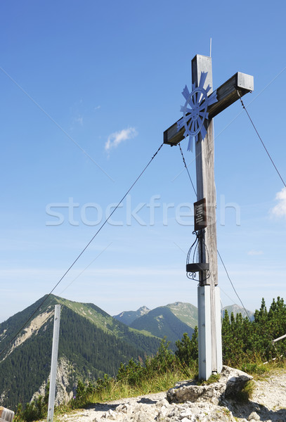 Summit Cross Stock photo © manfredxy