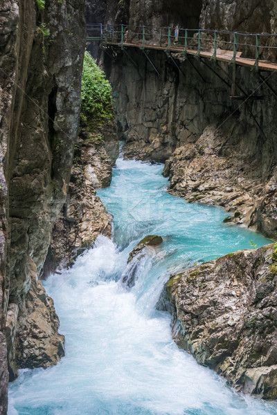Walkway through the Leutasch Gorge Stock photo © manfredxy