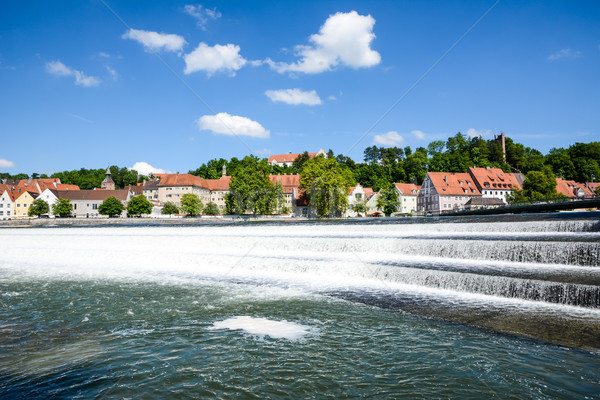 Landsberg at the river Lech Stock photo © manfredxy