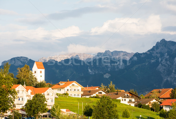 Village of Hopen in the alps of Bavaria Stock photo © manfredxy