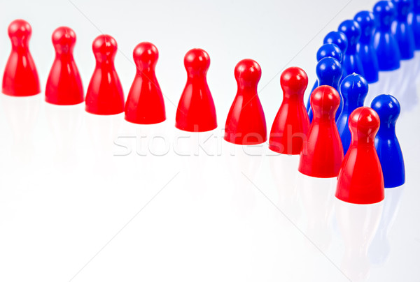 Two rows of pawns comming together Stock photo © manfredxy