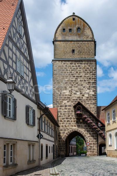Historic city gate of Sesslach Stock photo © manfredxy