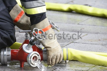 Fireman at work Stock photo © manfredxy