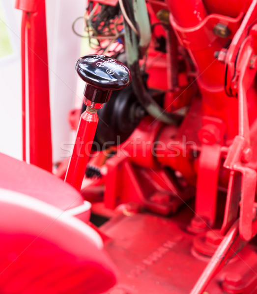 Vintage tractor gear stick Stock photo © manfredxy