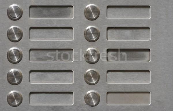 Appartement maison métal bouton métallique Photo stock © manfredxy