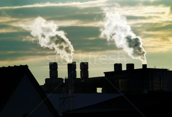 Fumée air pollution industrie usine industrielle Photo stock © manfredxy