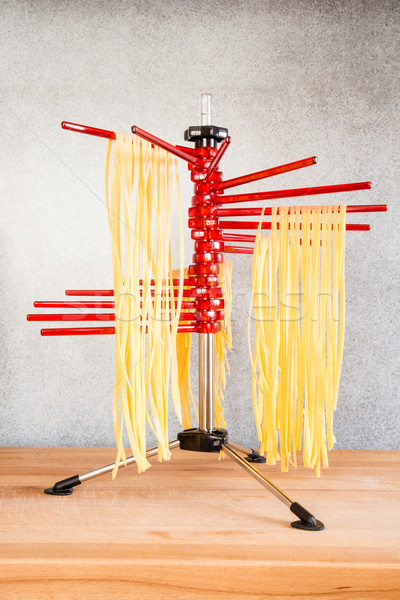 Drying Self-made Italian Pasta Stock photo © manfredxy