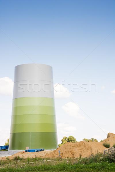 Befejezetlen szélmalom szél energia torony technológia Stock fotó © manfredxy