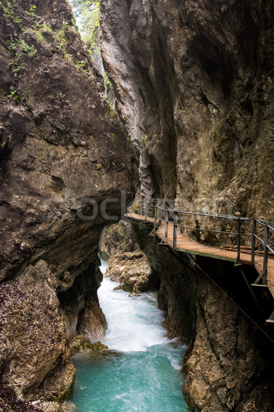 Walkway through the Leutasch Gorge Stock photo © manfredxy