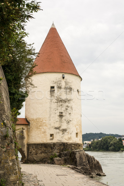 Tower at the Inn Promenade in Passau Stock photo © manfredxy