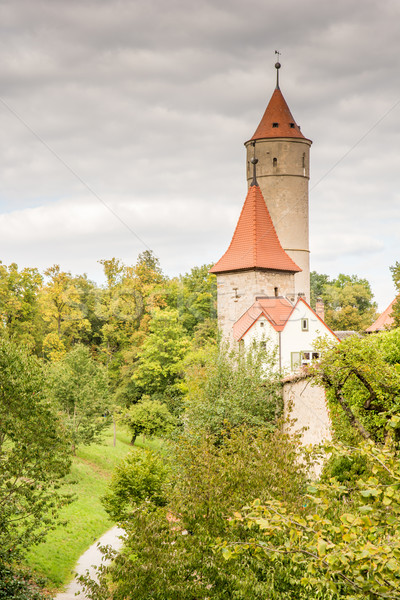 Medieval Watch Tower in Dinkelsbuehl Stock photo © manfredxy